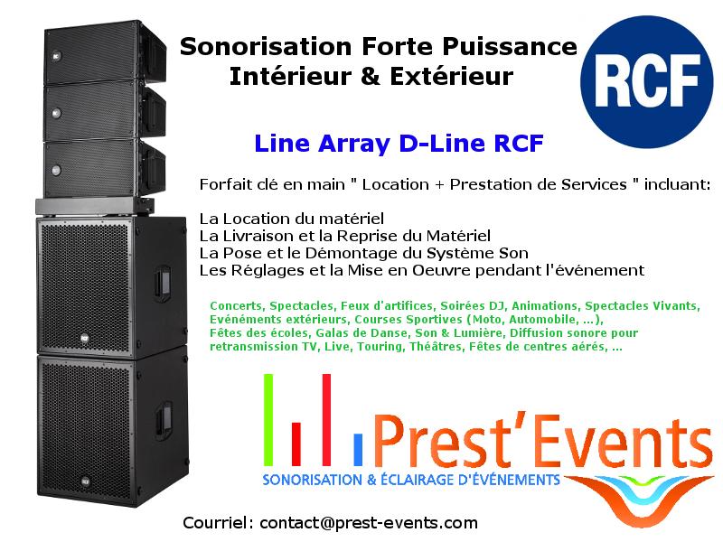 rcf audio pro sonorisation line array int rieur ext rieur d line lille nord france prest 39 events. Black Bedroom Furniture Sets. Home Design Ideas